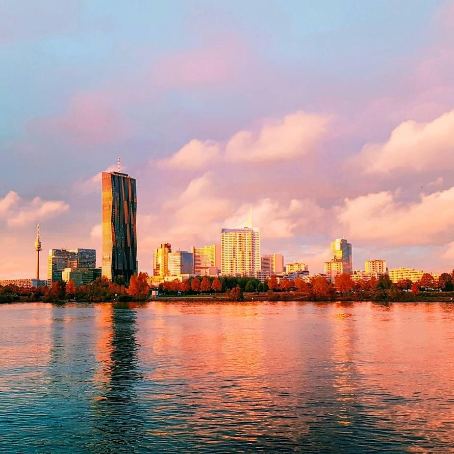 Sunset over Vienna, Austria. Taken with Samsung S7 phone