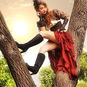 Steampunk Fashion Shoot with model Alexandria Conboy