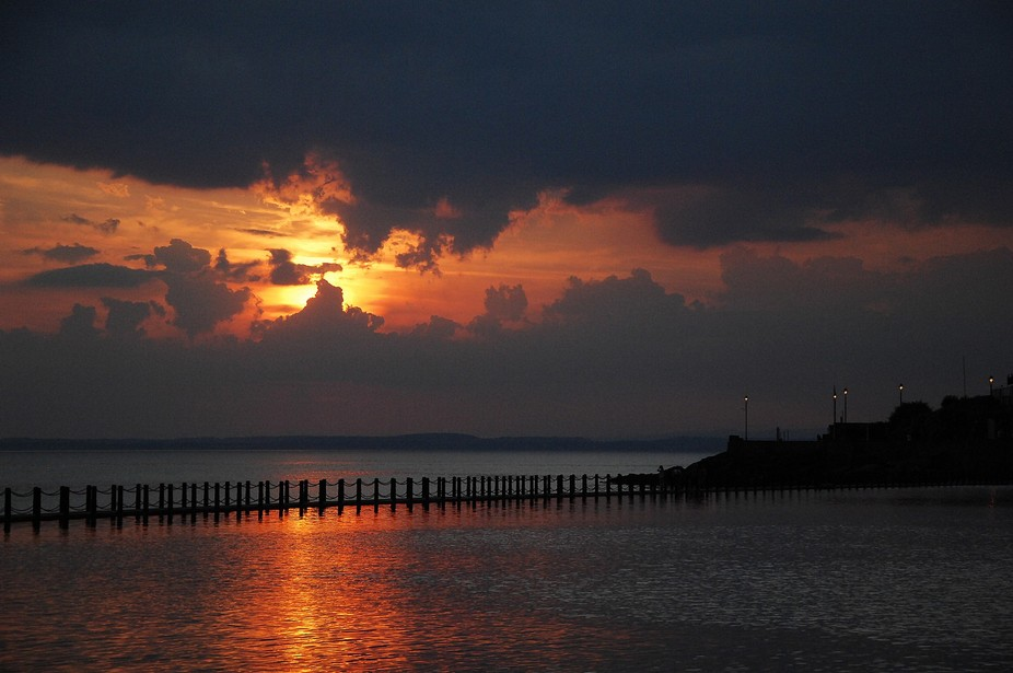 Taken as part of a sunset shoot at Weston Super Mare in Somerset the break in the storm gave a gr...