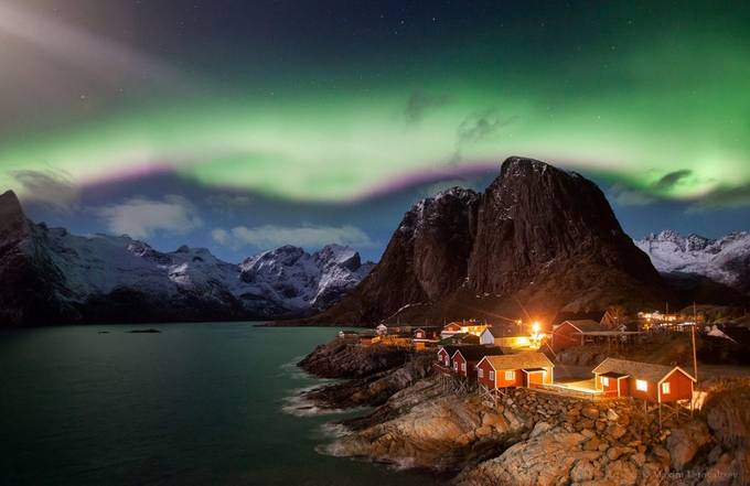 Hamnoy and Aurora by maximletovaltsev - Nature And The Night Photo Contest
