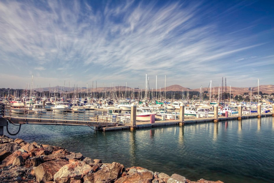 This is located in Northern California near Bodega Bay.  What a really nice day and The clouds ar...