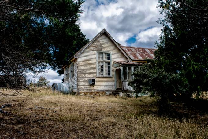 Once upon a time this was a school for the local kids growing up in the countryside, Tasmania.
