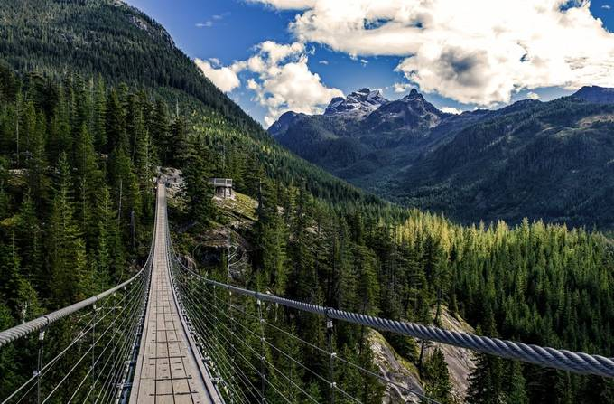 Sky Pilot Suspension Bridge by JoAnneRobbinsSmith - Diagonals And Composition Photo Contest
