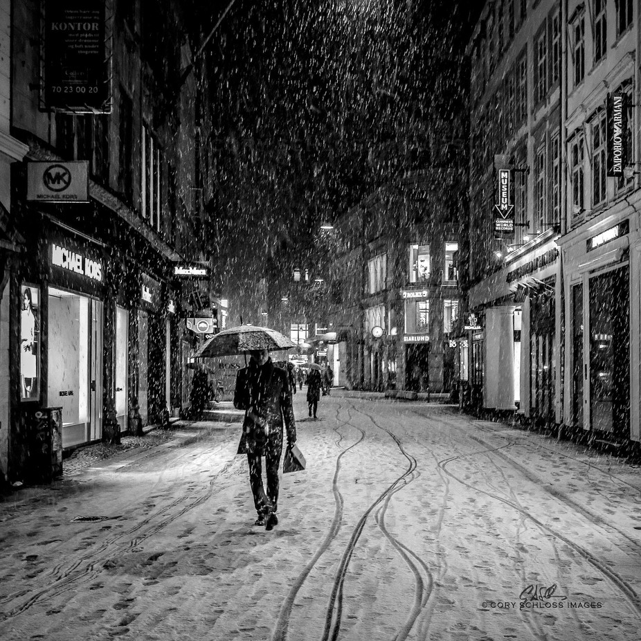 Snowfall | Copenhagen by CorySchlossImages - City Life In Black And White Photo Contest