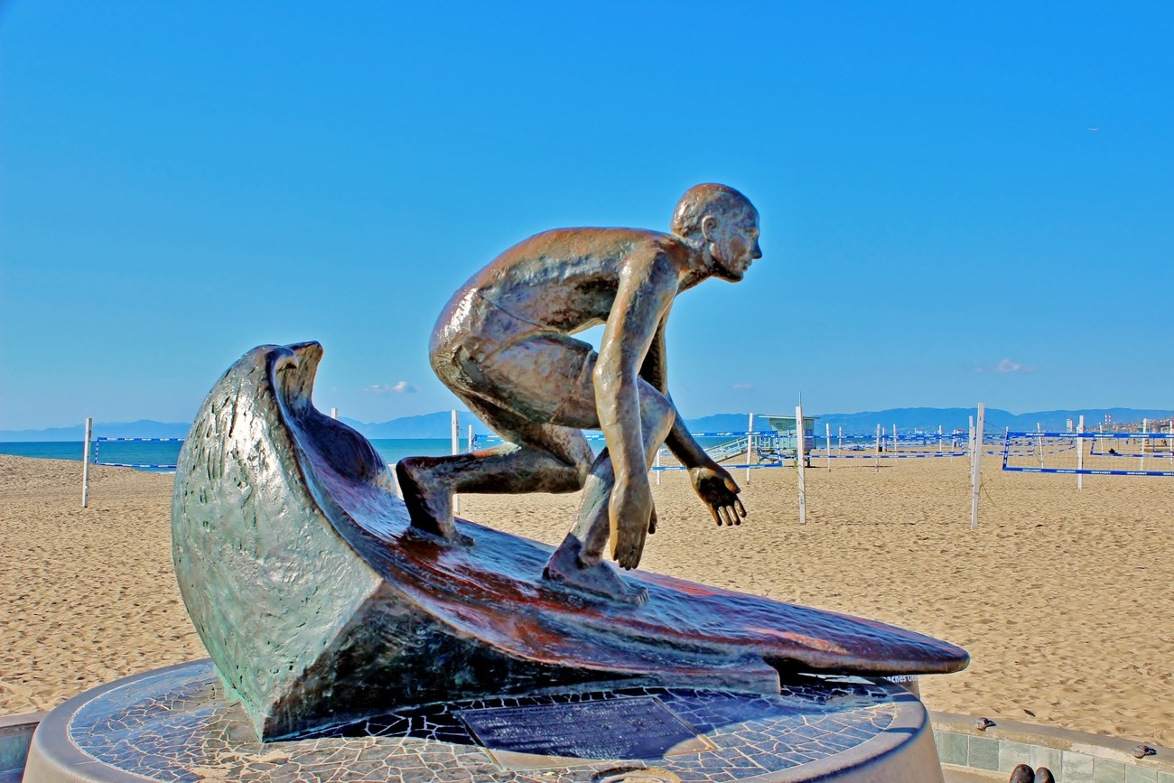 The Surfer Statue at Hermosa Beach