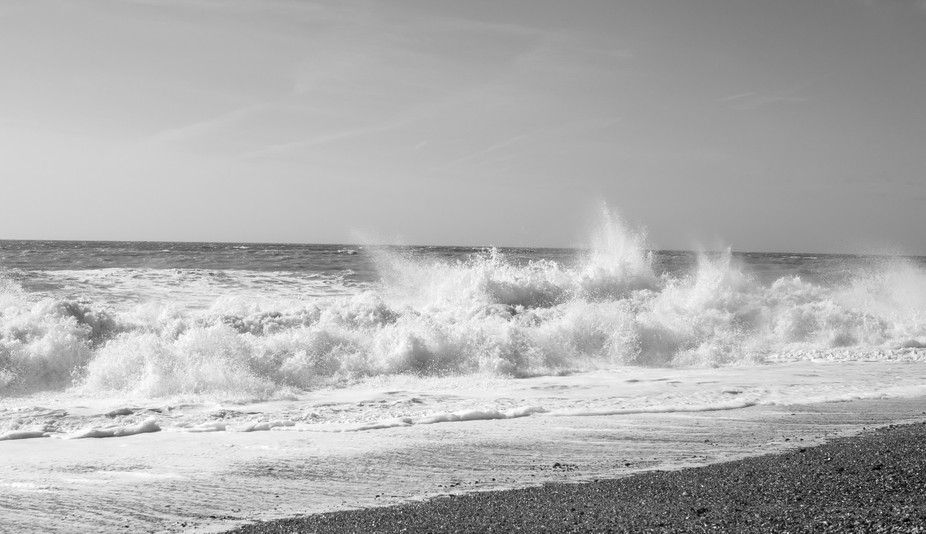 I wanted to capture the energy and dance-like movement of the waves. It's shot at Bright...