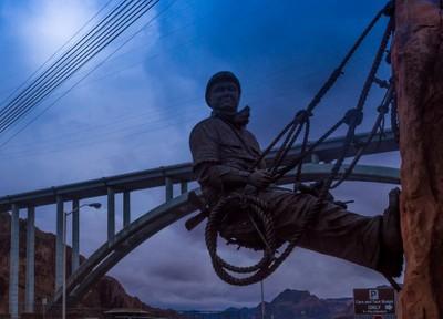Sculpture - Hoover Dam Construction Worker