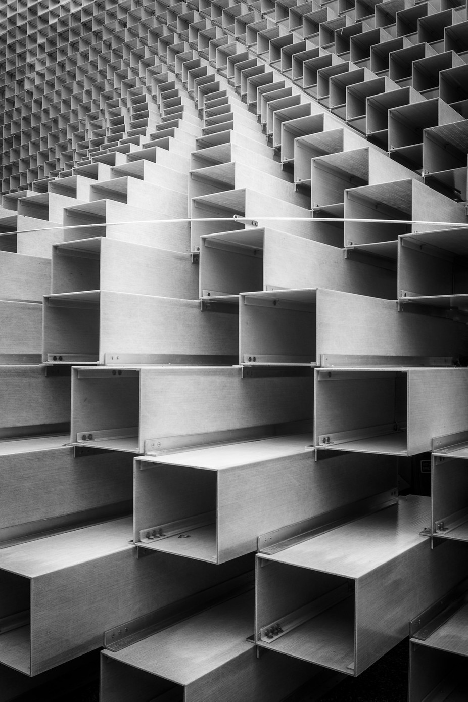 Abstracts in Architecture - the Serpentine Pavilion 2016 by jfischerphotography - Patterns In Black And White Photo Contest