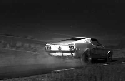 Night time street racing