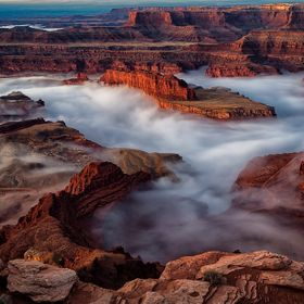 Fog at Dead Horse Point