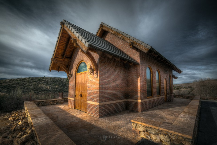 A small chapel that overlooks Fain Park in Prescott, Arizona.