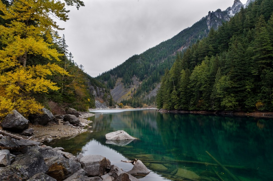 This was one of my best days ever. It was a beautiful late October hike, and we had the whole lak...