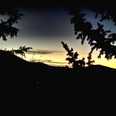 the sunset from my Hotel balcony over the Wasatch Mountains in Park City