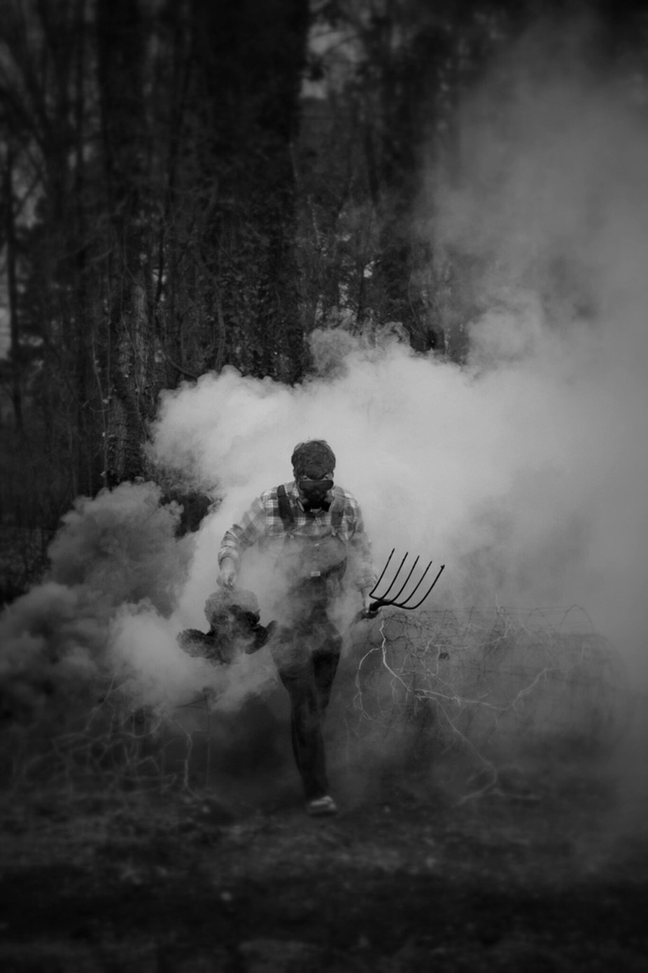 The mystery farmer  by StephenLittlePhotography - Everything Smoke Photo Contest