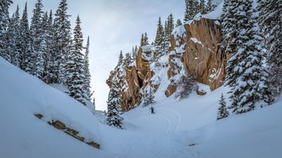 Snow Show the Gap - Dawn Hike in Rocky Mountain National Park, January 2017 with Kyle Colby, Kaden Colby, and the Brother's Adrenaline Project(IMG_1864