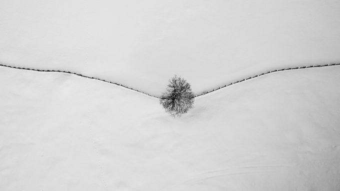 Minimalistic by michaelstabentheiner - Winter In Black And White Photo Contest