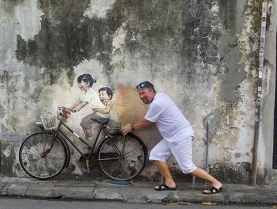 Street art in Penang!