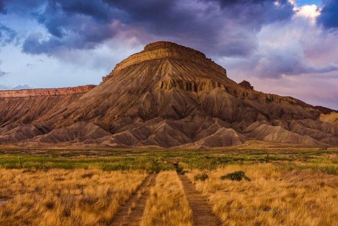 Mt Garfield in HDR by brandydement - Country Roads Photo Contest