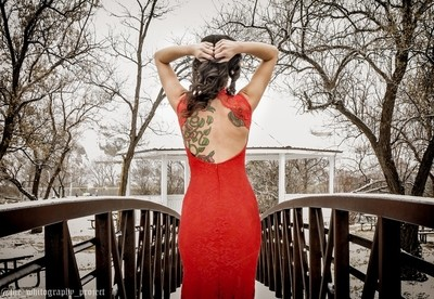 Red Dress and Tattoos
