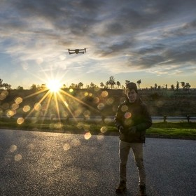 My buddy Ryan pictured here purchased a new drone so of course the first thing we did was wake up at 530am for a sunrise test flight over the can...