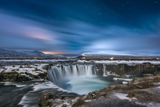 Half_Moon_Godafoss_Iceland by gilesrrocholl - Blue Skies Photo Contest