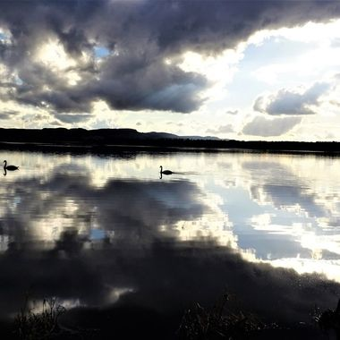 Perfect Day for photographing Loch Leven Sunny with clouds adds to the lovely reflections
