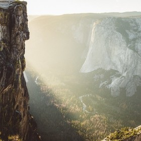 Sunset from Taft Point in Yosemite.