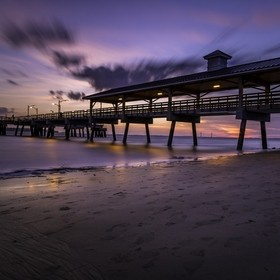 I caught this shot using an ND 1000 filter the other night out at St. Simons Island, GA. It was a beautiful sunset, and I love the look of the lo...