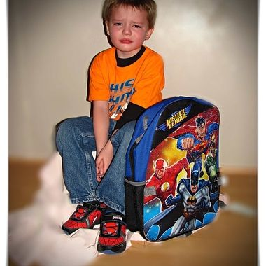 My middle son of three boys was not happy about going to Preschool but he liked it after he went.