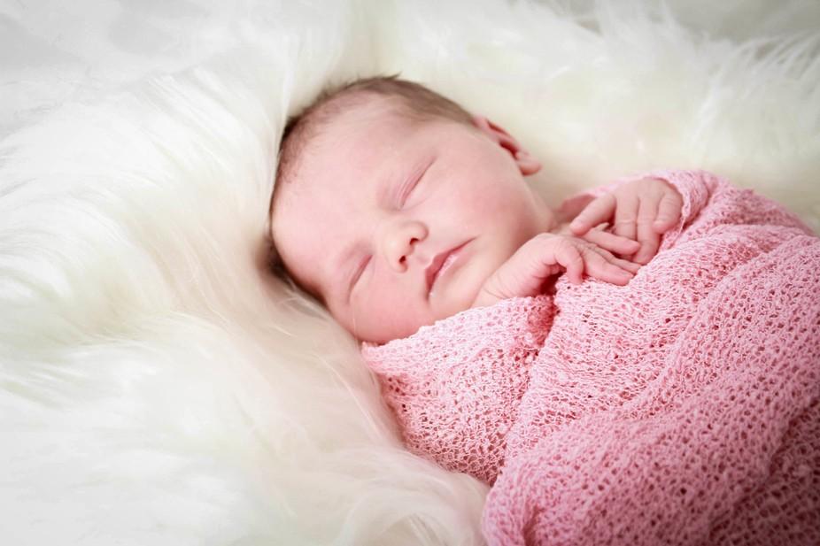 Beautiful girl in fluff