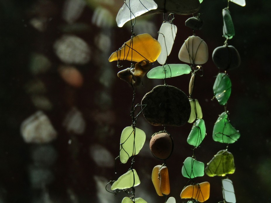 Chimes made of sea glass