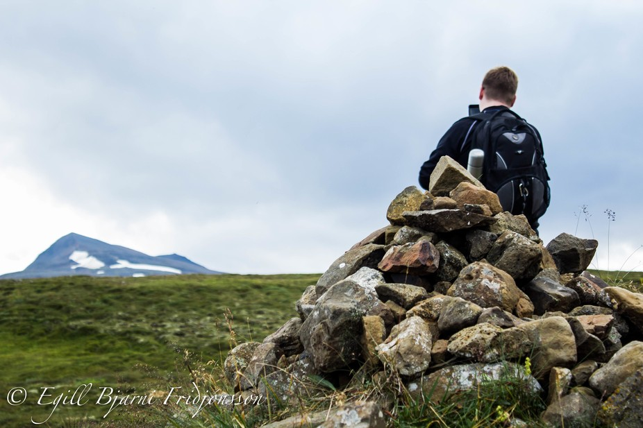 My friend and I went hiking on the mountain Súlur in Akureyri, Iceland.  This was one of the sto...