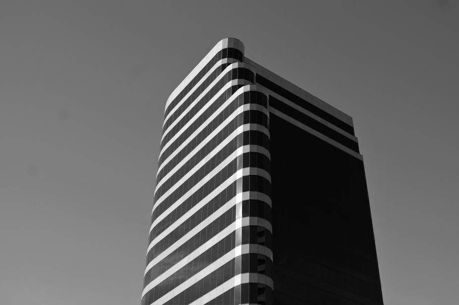This abstract photo of a highrise building was taken in downtown Phoenix Arizona