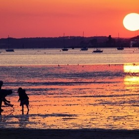 Sandbanks sunset Fotor