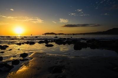 Playa Samara sunset, Costa Rica.