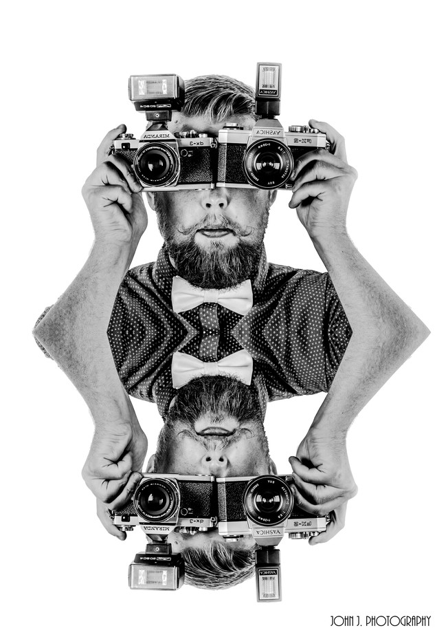 Selfie by JohnJPhotography - Selfies In Black and White Photo Contest