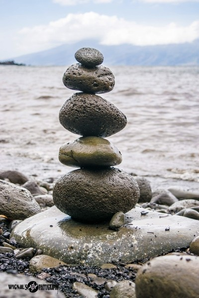 Stacked rocks in Maui.