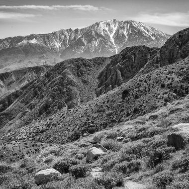 Mt. San Jacinto as seen from Whitewater Canyon, near Palm Springs, CA