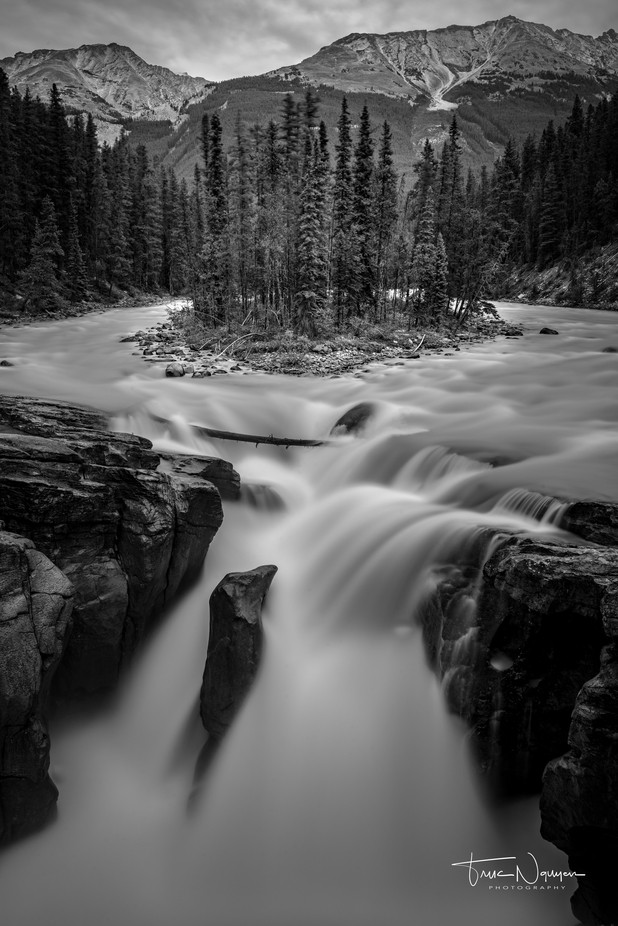 Sunwapta Falls by Truc_Nguyen - The Water In Black And White Photo Contest