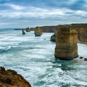 The Twelve Apostles, taken in 2003 with Fuji finepix S304. Edited in Lightroom.