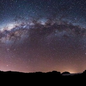 Panorama of Milky Way Above Piton des Neiges - Reunion Island