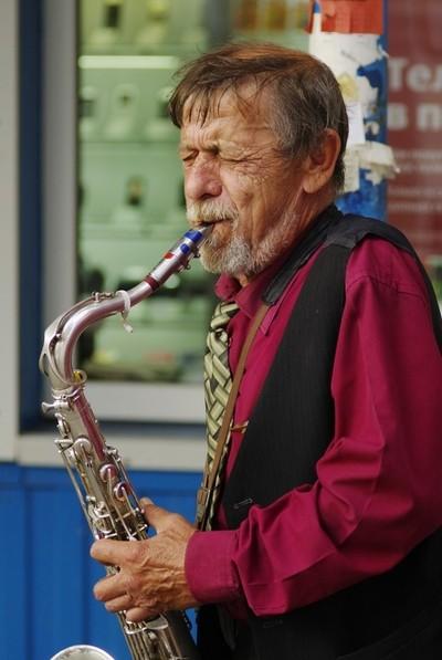 Street Jazzman, Azov, Russia, Summer 2009