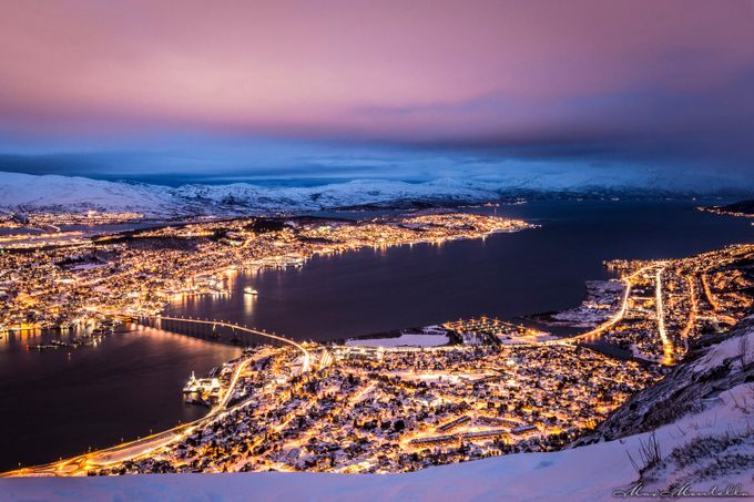 Beaming Tromso! by MaxMontella - Bridges In The Night Photo Contest