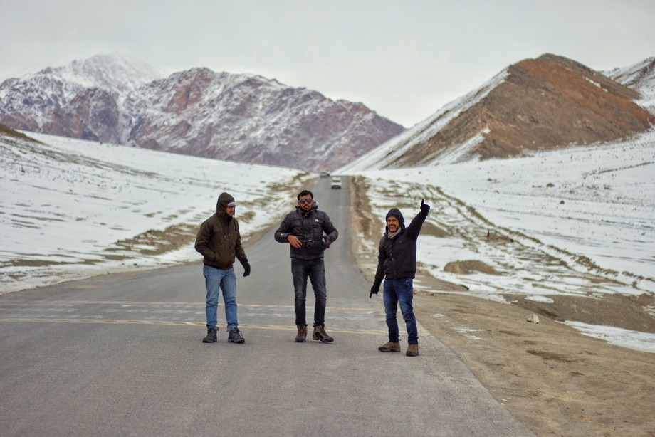 Picture from the recent trip to Ladakh, India. Here we owned the road like a boss and did all the...