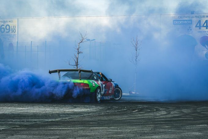 Drift Car in Action by whiteshipdesign - Everything Smoke Photo Contest
