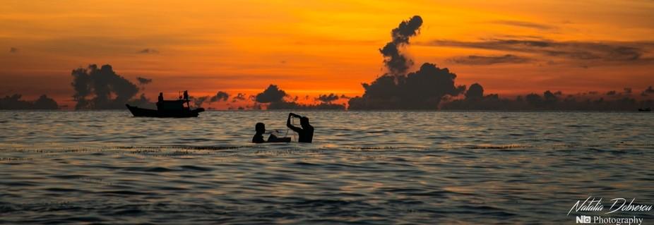 Panorama of sunset in Phu Quoc, Vietnam