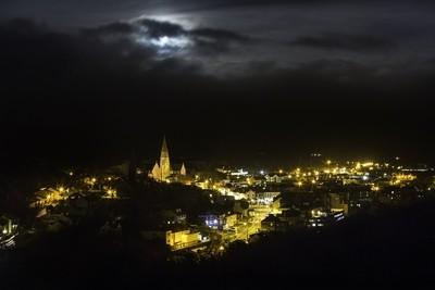 Super Moon Hiding Over Clifden