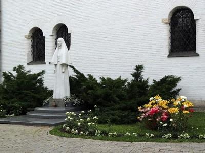 The convent of Martha and Mary (Marfo-Mariinsky), statue of the Princess and The convent of Martha and Mary (Marfo-Mariinsky), statue of the Princess and the famous saint Elizaveta Feodorovna Romanova (1864–1918), founder