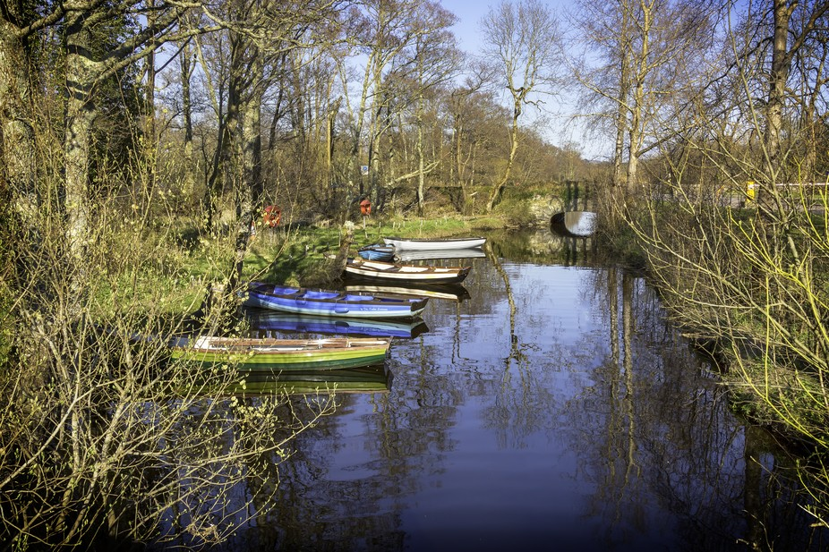 Some of the lake boats at Ross castle in Killarney Co. Kerry