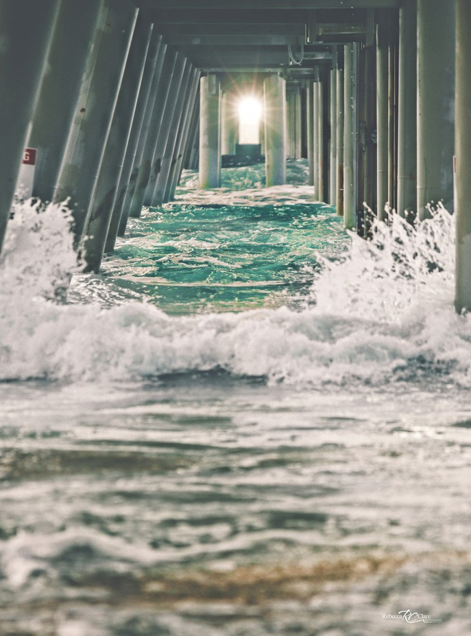 Under the pier by rebeccaporter - Flares 101 Photo Contest